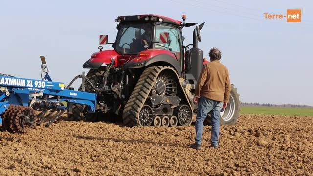 Essai tracteur Case IH Magnum Rowtrac - T. Bidaud: «Davantage de confort en cabine et moins de compaction»