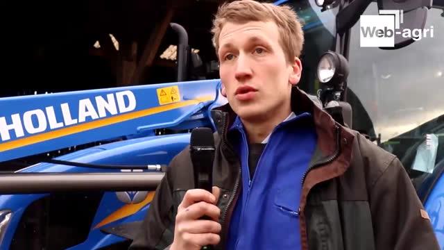[Vidéo] Essai tracteur New Holland T5 - N. Hautot, éleveur: «Son faible coût d'entretien est un atoutsérieux! »